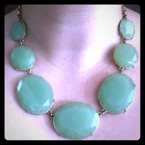 Green Stone Necklace Gold Chain